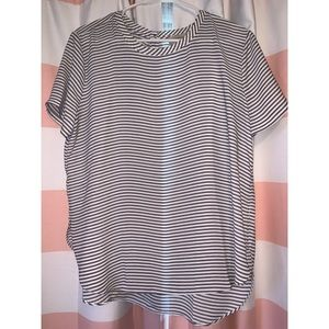 Loft Black and White Stripped Blouse